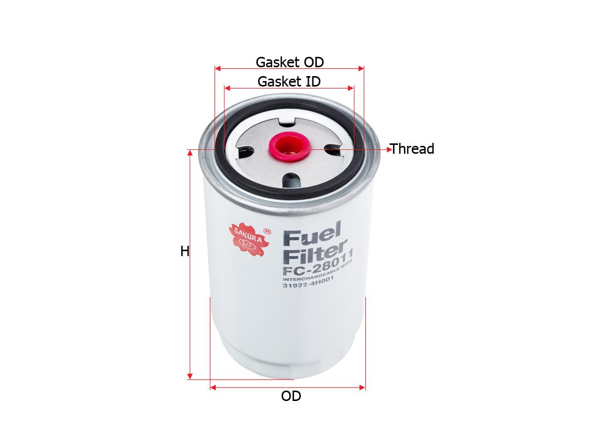 Sakura Filter Fc 28011 2005 Kia Sportage Fuel