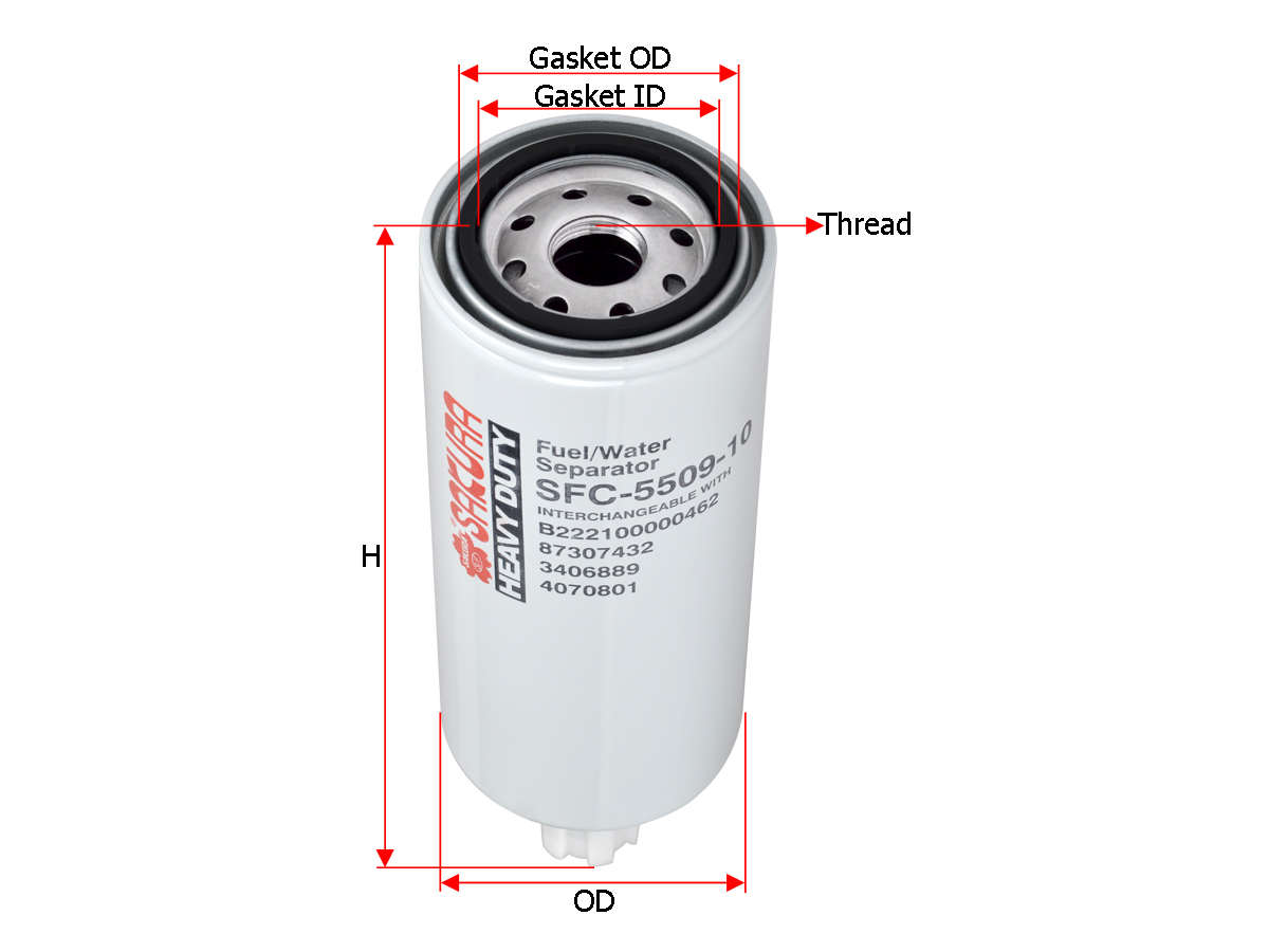 Sakura Filter Sfc 5509 10 Alliance Fuel Water Separator